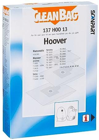 5899 Telios 20 Staubsaugerbeutel Ersatz für Hoover T 5400..