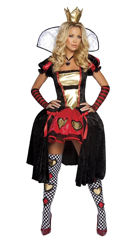 Wicked Queen of Hearts 3-Piece Wonderland Costume - DeluxeAdultCostumes.com