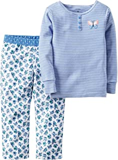 d562899bf Amazon.com  Carters Girl s 2 Piece Cozy Flannel Pajamas Shirt and ...