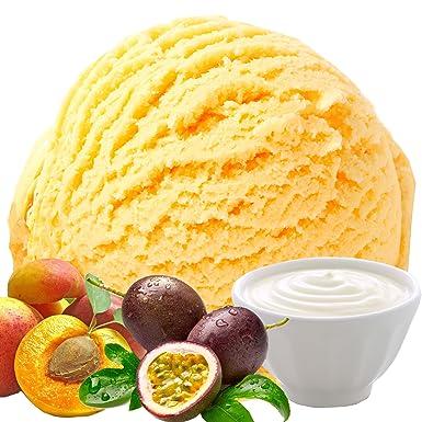 Yogur Melocotón, maracuyá, sabor de fruta 1 Kg. Gino Gelati Polvo de hielo