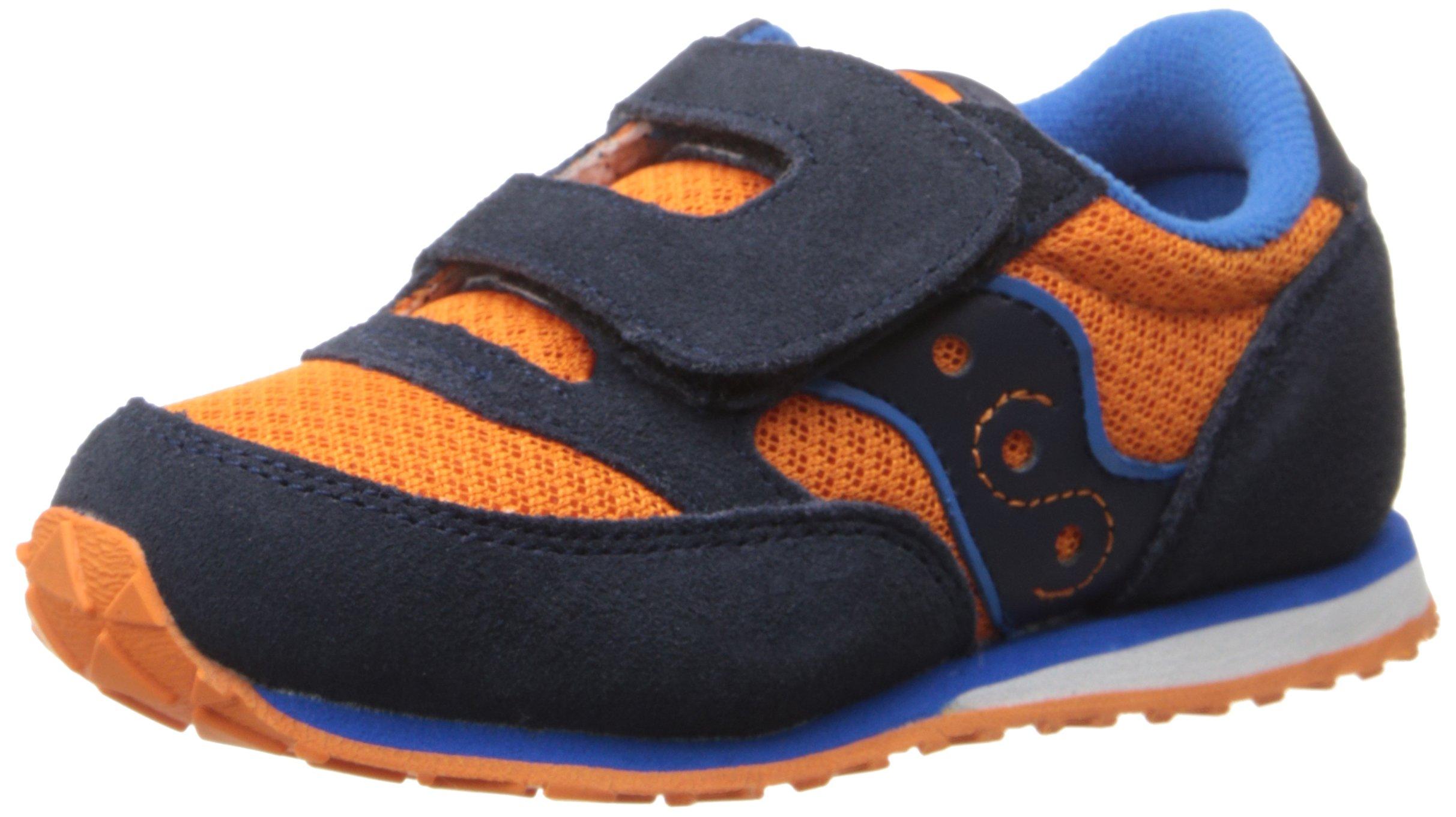 Saucony Jazz Hook & Loop Sneaker (Toddler/Little Kid), Orange/Navy/Blue, 5.5 M US Toddler