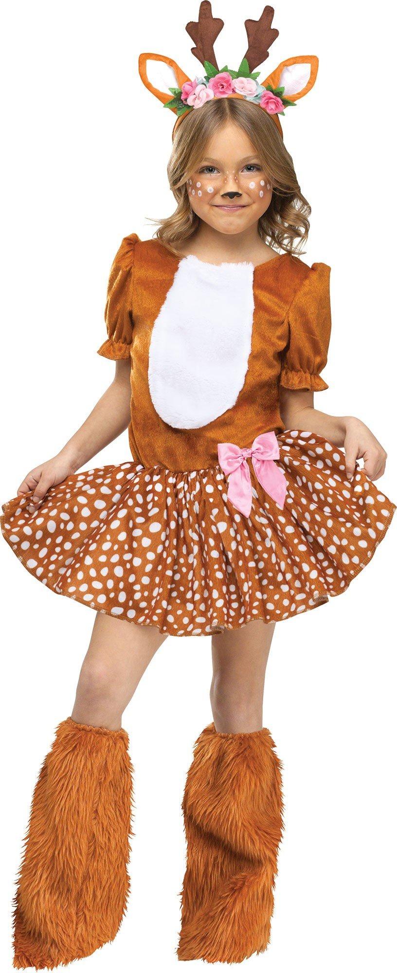 Fun World Girls Oh Deer Costume, Brown, Large 12-14