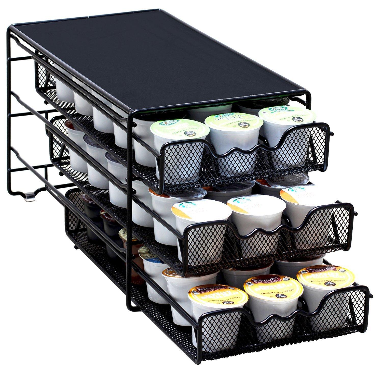 DecoBros 3 Tier Drawer Storage Holder 54 Keurig Coffee Pod