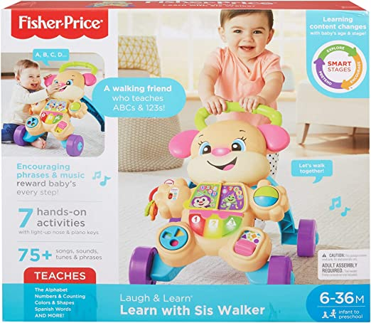 Fisher Price Laugh /& Learn Smart Stages Learn With Sis Walker