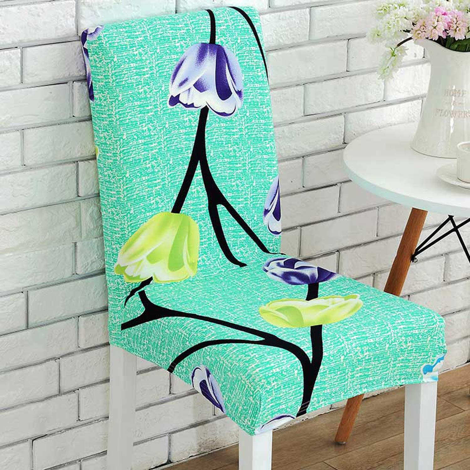 Amazon.com: Elastic Butterfly Beautiful Flowers Pattern Chair Covers ...