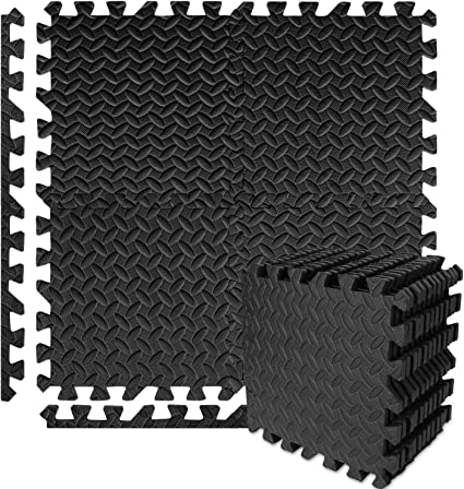 Puzzle Interlocking  Exercise Mat Gym Mats Protective EVA Foam Tiles