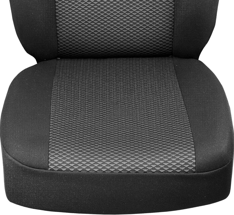 Zakschneider Jazz Vorne Sitzbez/üge Farbe Premium Schwarz-graue Dreiecke Optimum f/ür Fahrer und Beifahrer