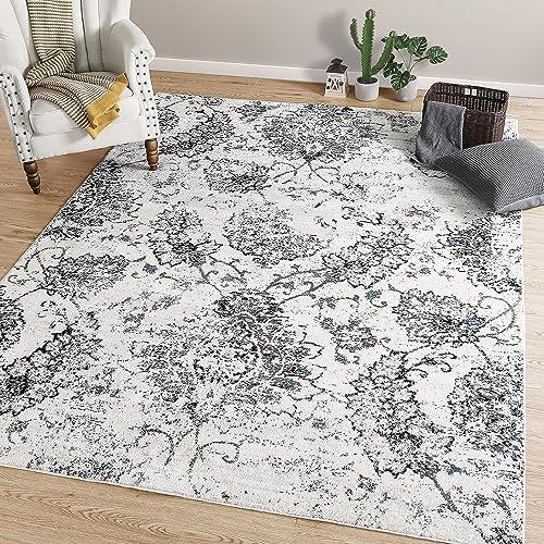 LNC Distressed Polyester Non Slip 8 x 10 Coastal Style Area rug, 8 x10 , A03460