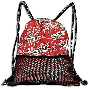 Amazon.com: Mochila japonesa con cordón para pintar, bolsa ...