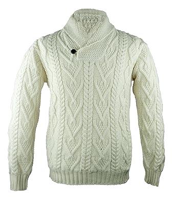 Aran Crafts 100% Irish Merino Wool Shawl at Amazon Men's Clothing ...