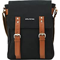 Balachia Premium Canvas & Leather Unisex Sling Travel Messenger Bag With Multiple Pockets