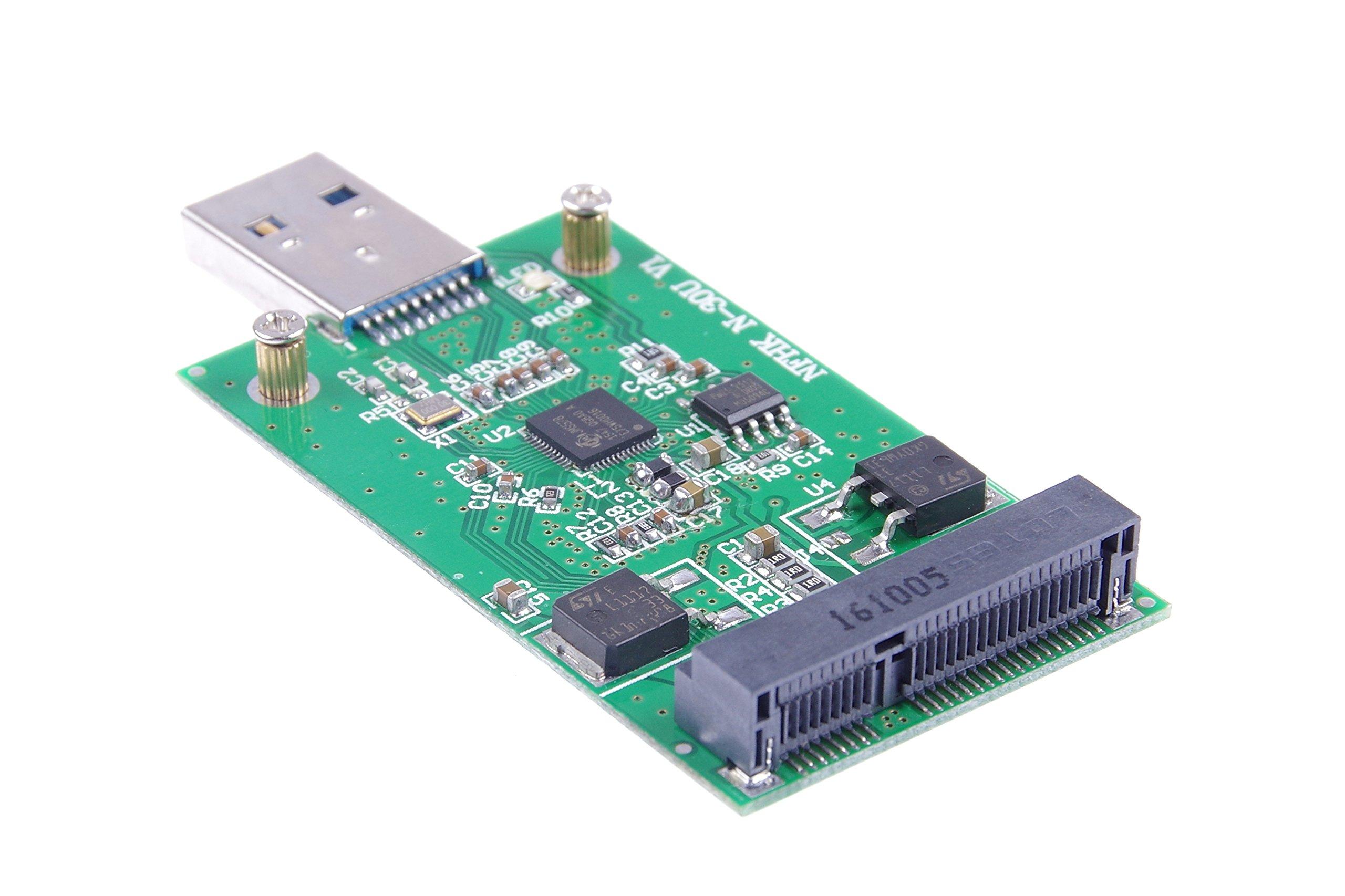 KNACRO USB 3.0 mSATA SSD Adapter as USB Disk Driver don't need USB cable USB 3.0 to mSATA SSD adapter card by KNACRO (Image #3)