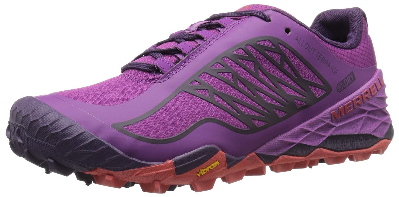Merrell Women's All Out Terra Ice Waterproof Trail Running Shoe B00RDJEG2O 7 M US|Purple