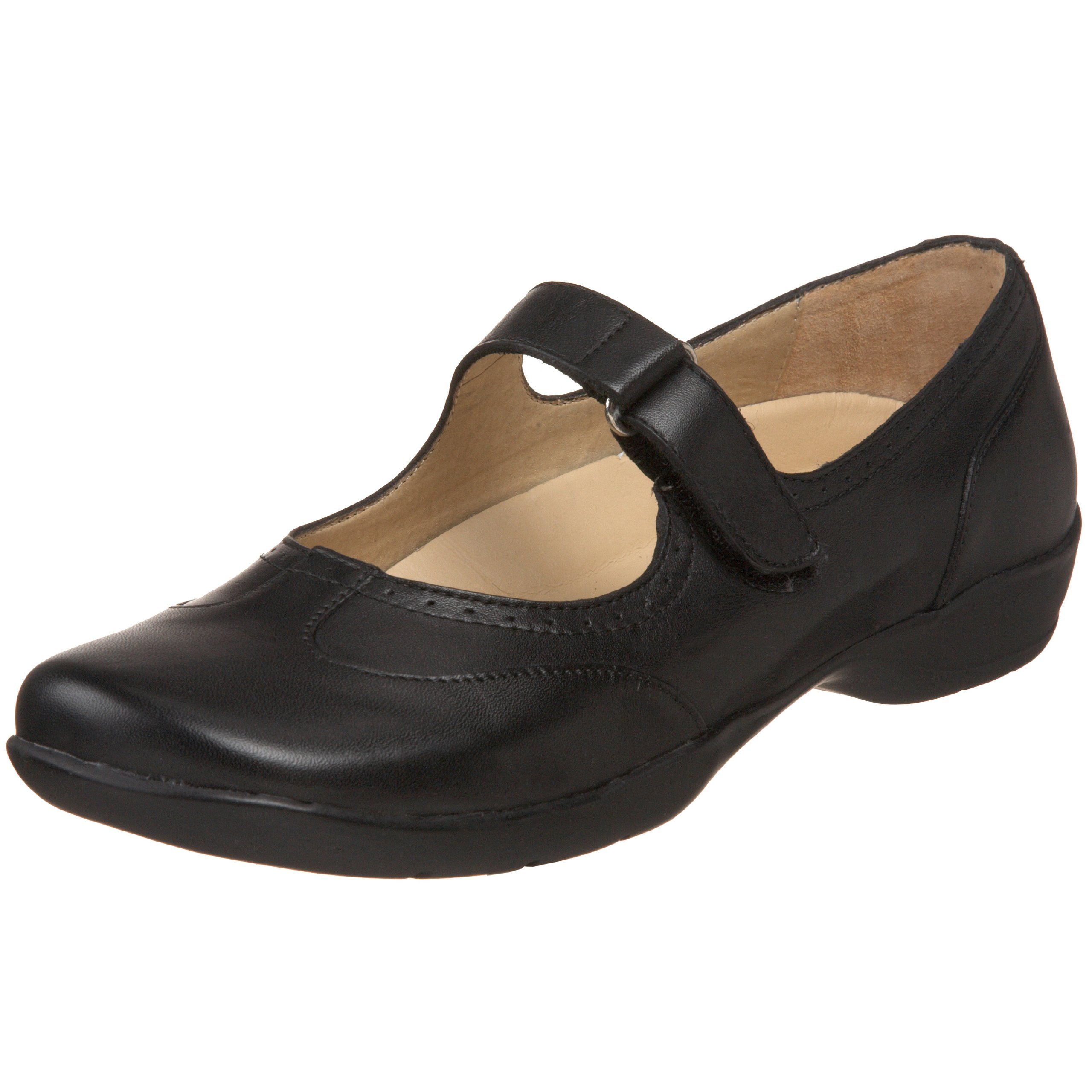Drew Shoe Women's Isabel Mary Jane,Black Leather,6 W US