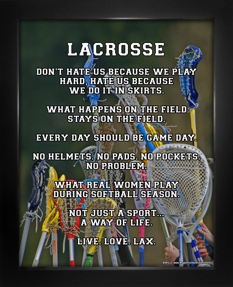 """Framed Lacrosse Female Player Sticks 8"""" x 10"""" Sport Poster Print"""