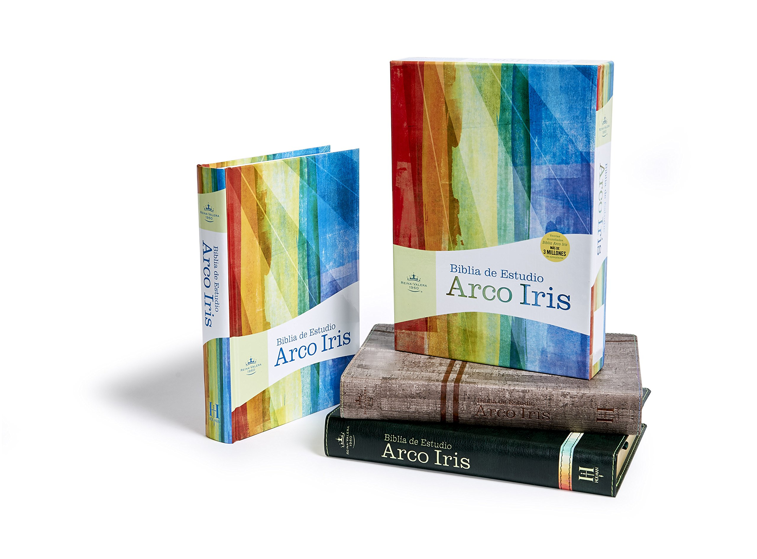 RVR 1960 Biblia de Estudio Arco Iris, gris pizarra/oliva ...