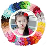 """Amazon Price History for:(40 Count Set)3"""" Baby Girls Boutique 40 Colors Hair Bows Grosgrain Ribbon Alligator Clips"""