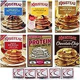 Amazon Com Krusteaz Blueberry Pancake Mix 28 Oz Pack Of