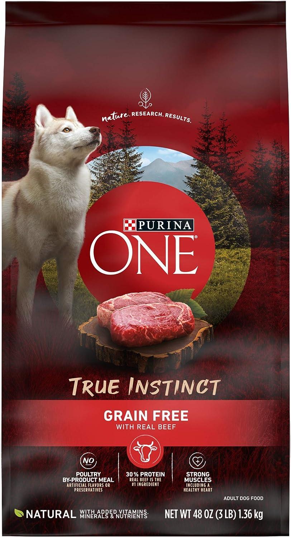 Purina ONE SmartBlend True Instinct High Protein, Natural, Grain Free Adult Dry Dog Food & Wet Dog Food