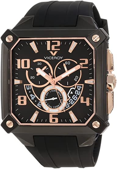 014fc5e18145 Viceroy 47639-95 - Reloj cronógrafo de caballero de cuarzo  Amazon.es   Relojes