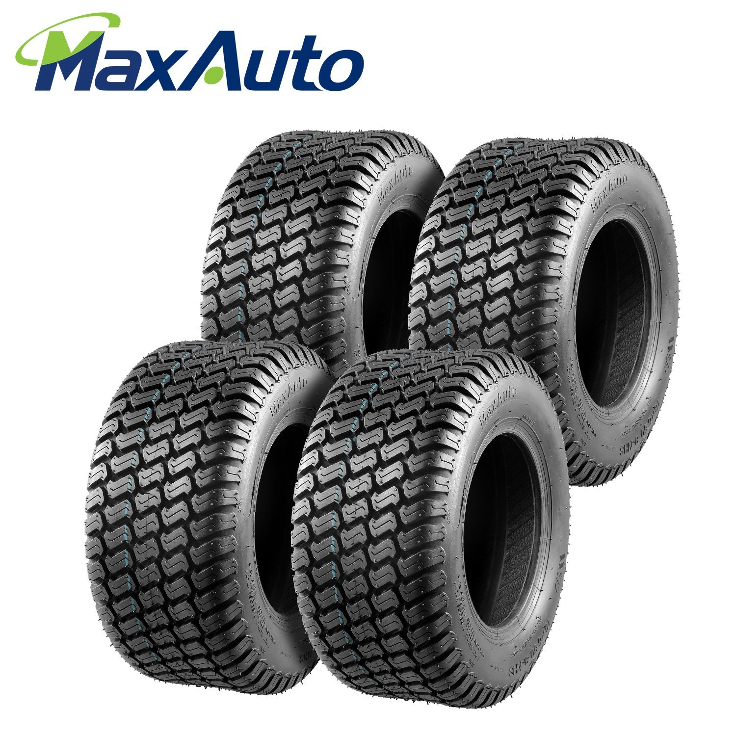 MaxAuto 16/6.50-8 16-6.5-8 Turf Tires 4 Ply Tubeless Lawn Mower Tractor 16x6.5x8(Pack of 2) PartsSquare