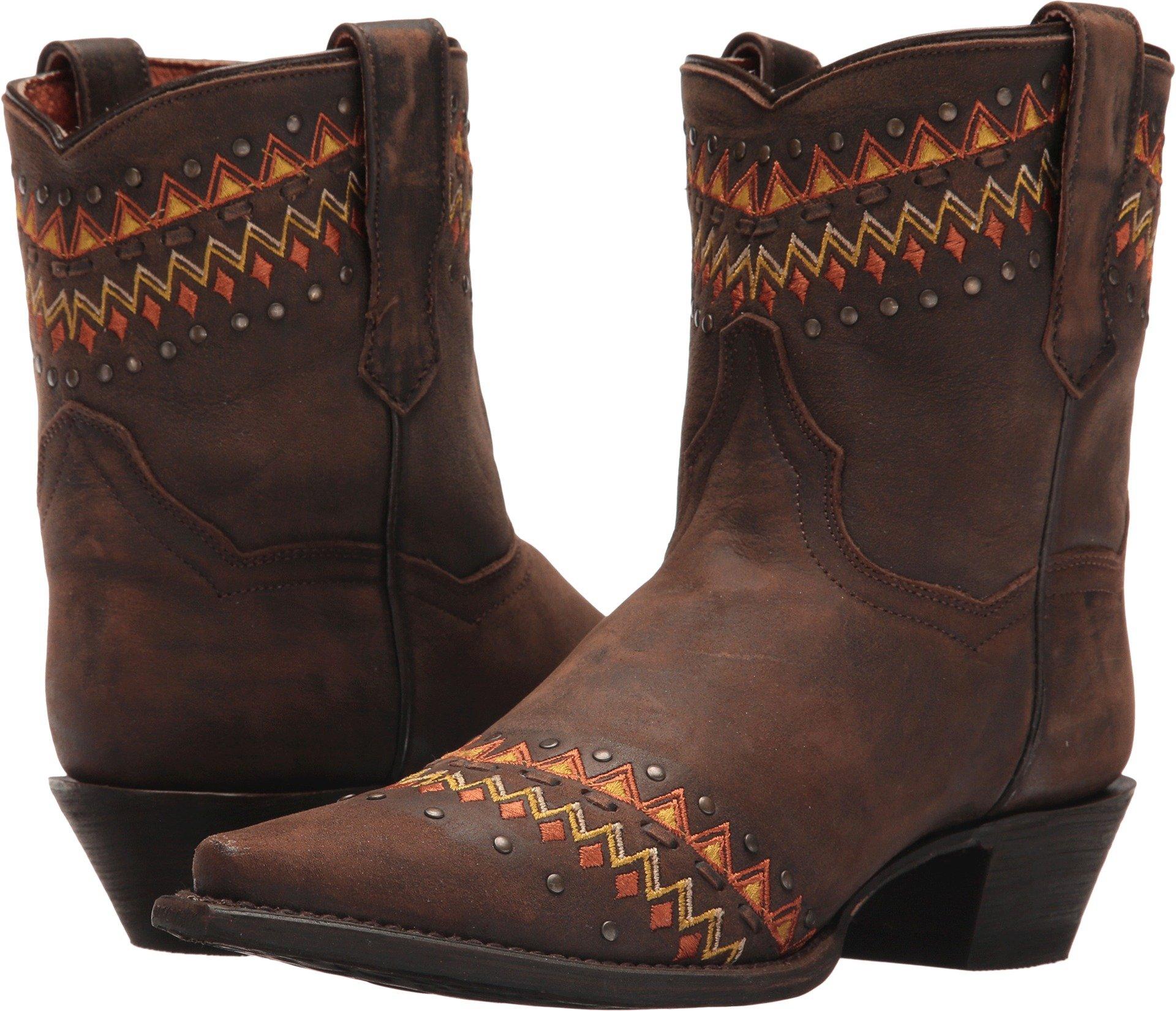 Dan Post Western Boot Womens Autumn Snip 6.5 M Dark Brown DP3738