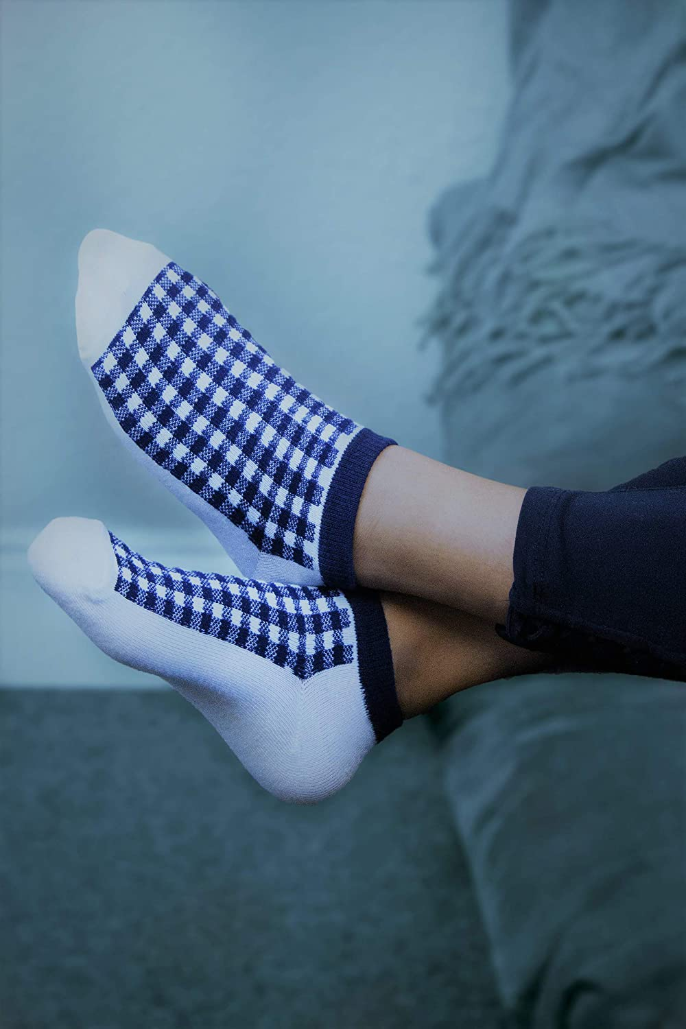 Women's Socks - Ankle Cut, Low Cut, No Show, Footie, Casual, Sport, Athletic Girls Socks in Colorful Patterns: Clothing