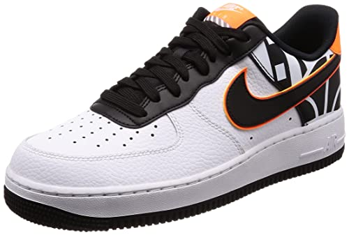 nike air force 1 nere e arancioni