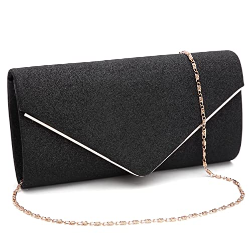 7905d1dd00 GESU Womens Shining Envelope Clutch Purses Glitter Evening Bag Handbags For  Wedding and Party.(