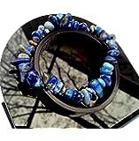 Bracelet en Pierre Naturelle Lithothérapie Minéraux en Lapis Lazuli Bijoux Femme
