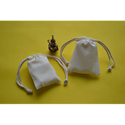 "25pcs 5"" x 7"" Natural Muslin Double Drawstring Bag - Wedding Favor - Party Favor - Reuseable Bags"