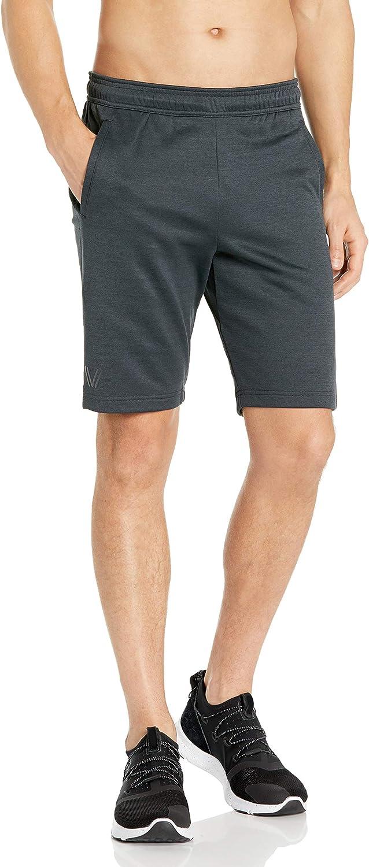 Amazon Brand - Peak Velocity Men's Quantum Fleece Loose-Fit Short