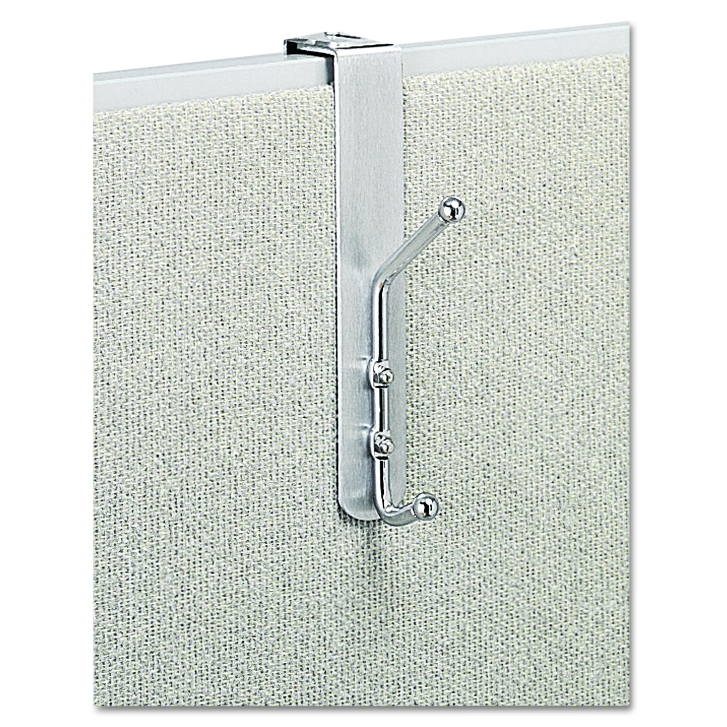 Safco Products 4167 Over-The-Panel Coat Hook, Silver