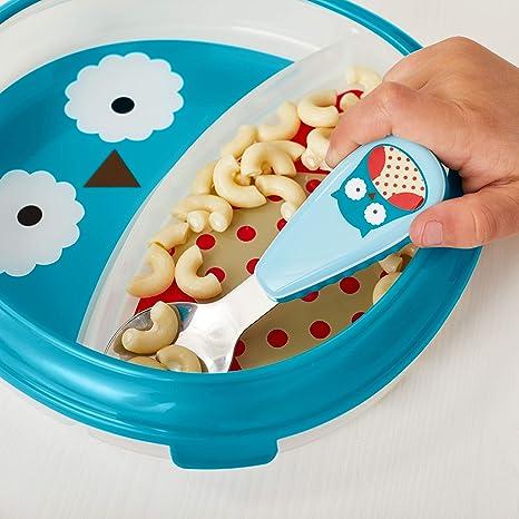 Hund Darby mikrowellengeeignet Skip Hop Zoo Smart Serve Teller und Sch/üssel mit F/ührungsrand mehrfarbig f/ür selbstst/ändiges Essen