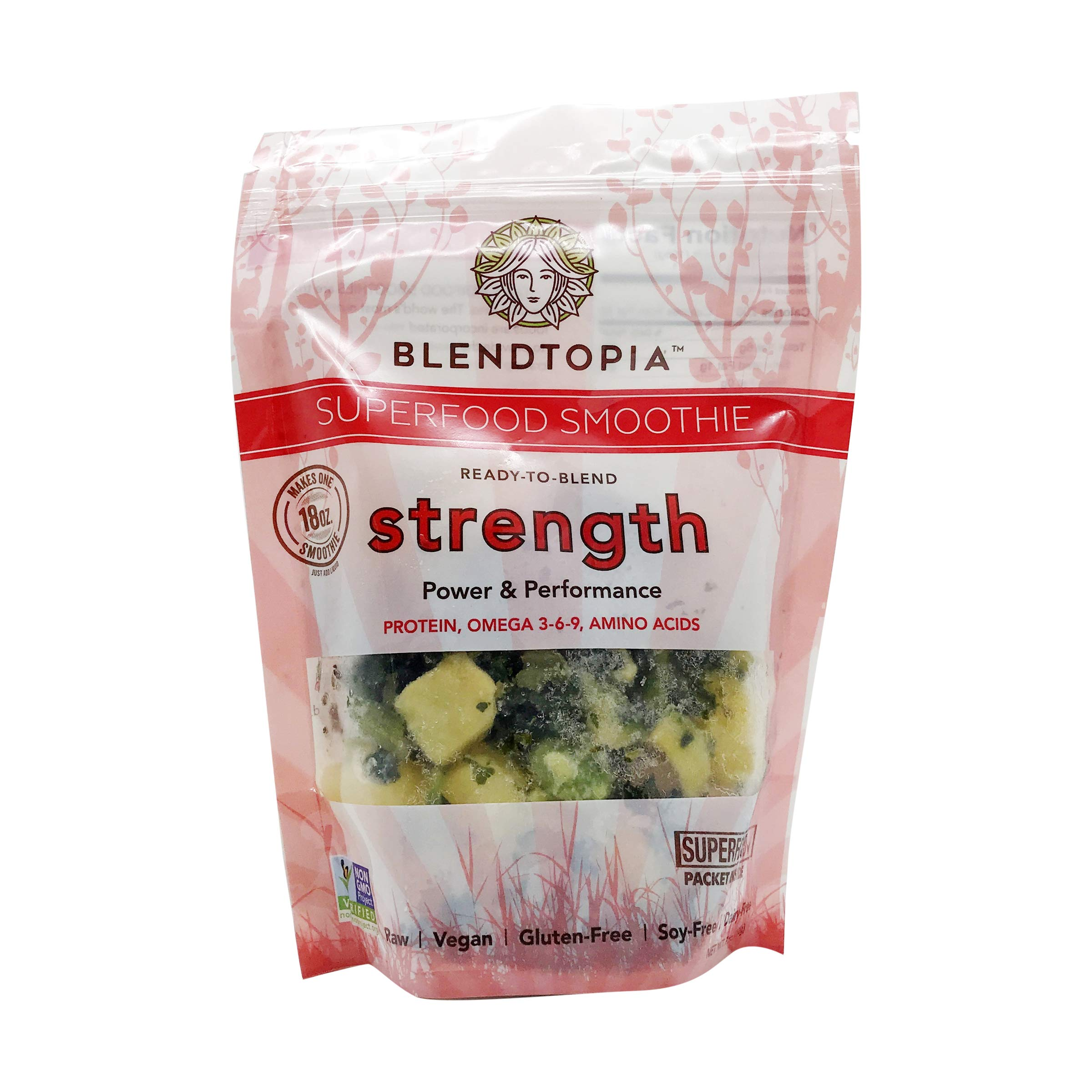 Blendtopia Superfood Smoothie Mix, Strength (4 Pack) by Blendtopia (Image #1)