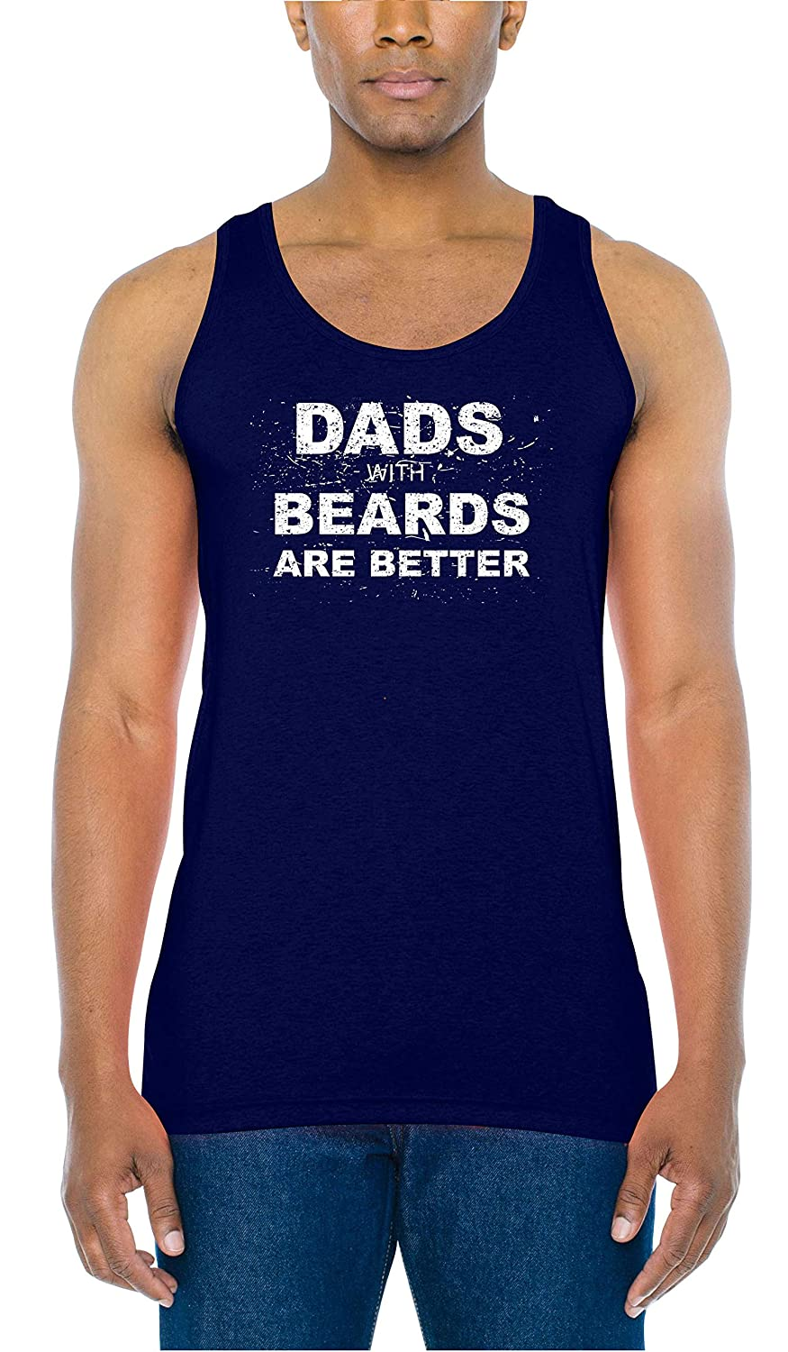 INKEEZY Mens Dads with Beards are Better Tank Top