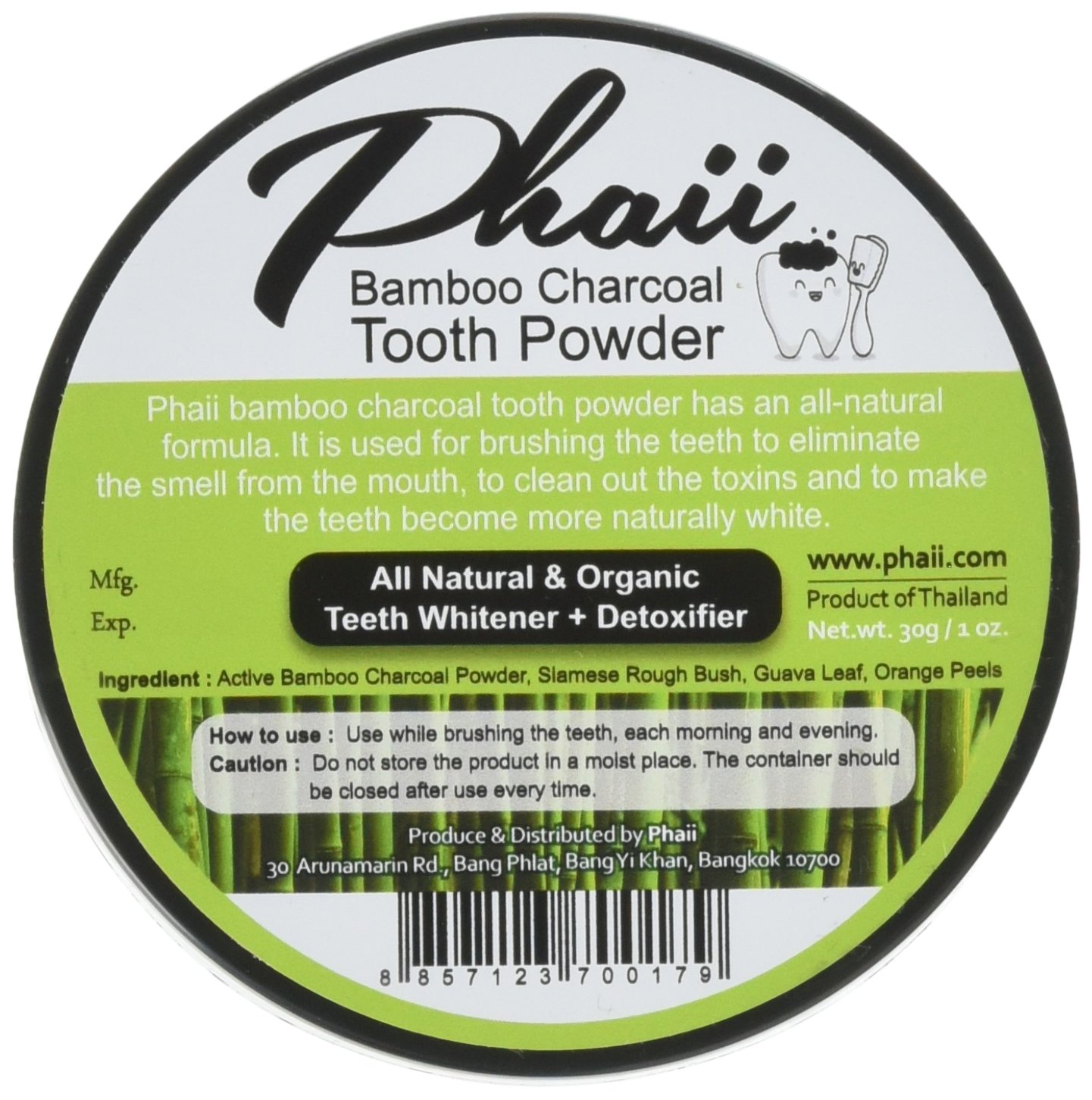 Natural Whitening Teeth & Gum Powder - Improve Mouth Hygiene, Whitens, Desensitizes, Detoxifies- Remove Toxins & Bacteria with Bamboo Activated Charcoal, Guava Leaf, Orange Peels - For Daily Use