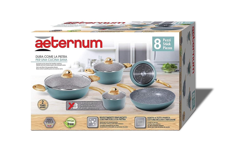 Aeternum y00set0193 juego batería de ollas y sartenes, Aluminio: Amazon.es: Hogar