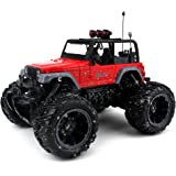 Velocity Toys Cross Country Muddy SUV Remote Control RC Truck 1:16 Scale Rechargeable with Custom Mud Splatter Paint Job, Working Suspension, Spring Shock Absorbers