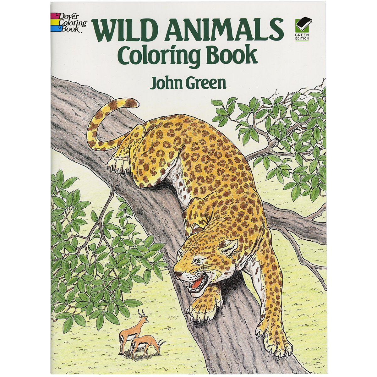 Wild Animals Coloring Book Dover Nature John Green 9780486254760 Amazon Books