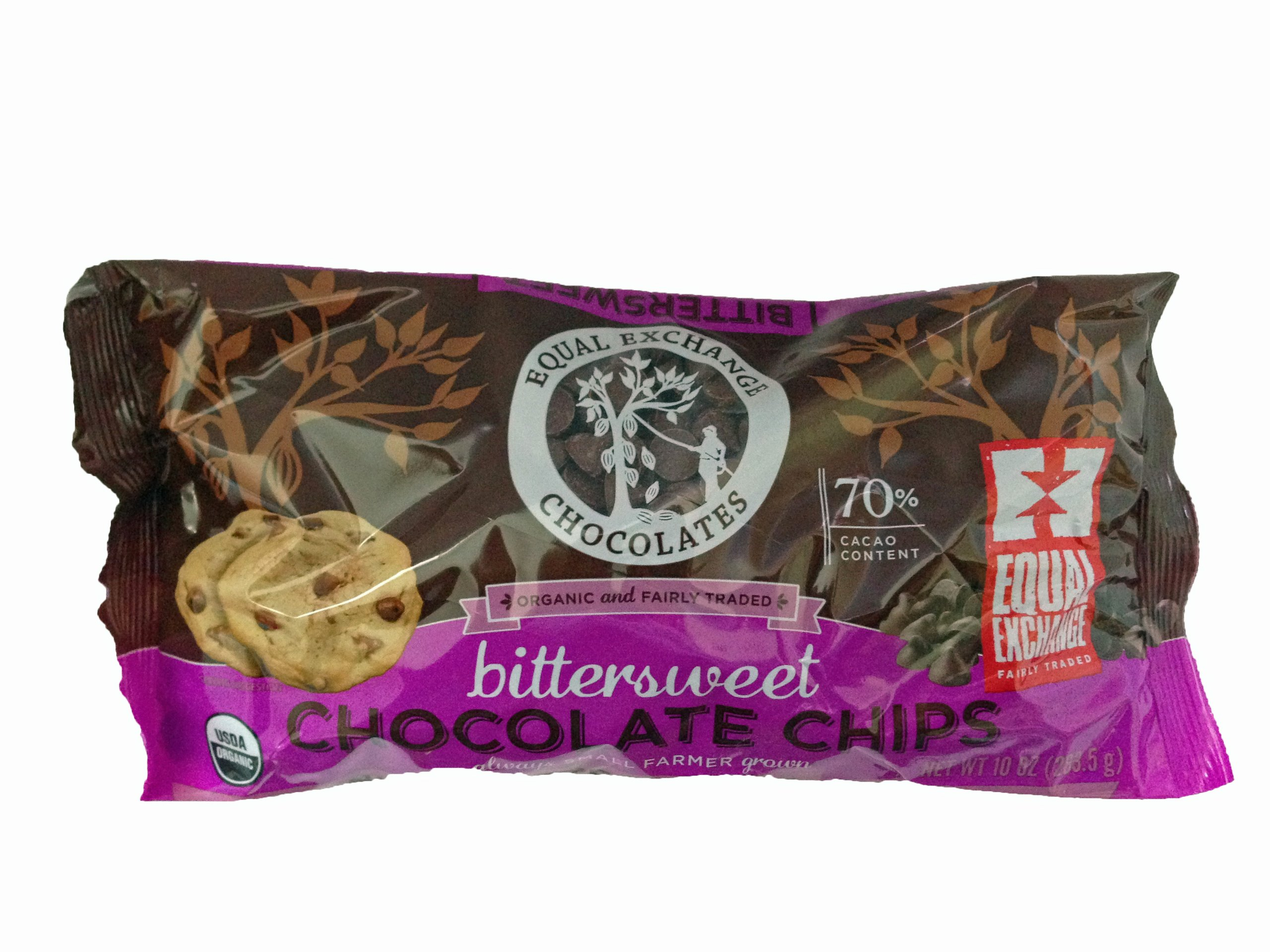 Equal Exchange Bittersweet Chocolate Chips (10 Oz.) (3- (10 Ounce Bags))