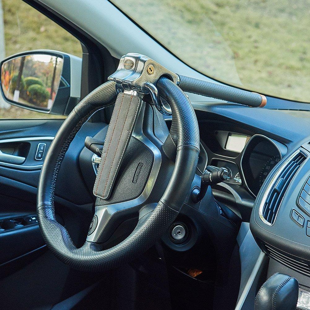 Blueshyhall/® Lenkradkralle Lenkradsperre Diebstahlsicherung Lenkrad Auto GRAU