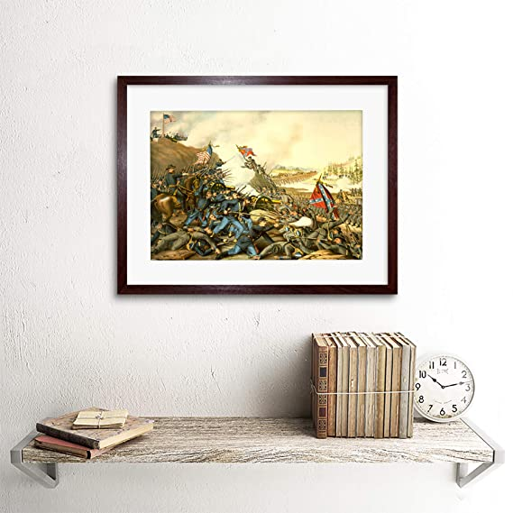 WAR US CIVIL BATTLE FRANKLIN UNION CONFEDERATE FRAME ART PRINT PICTURE F12X1830