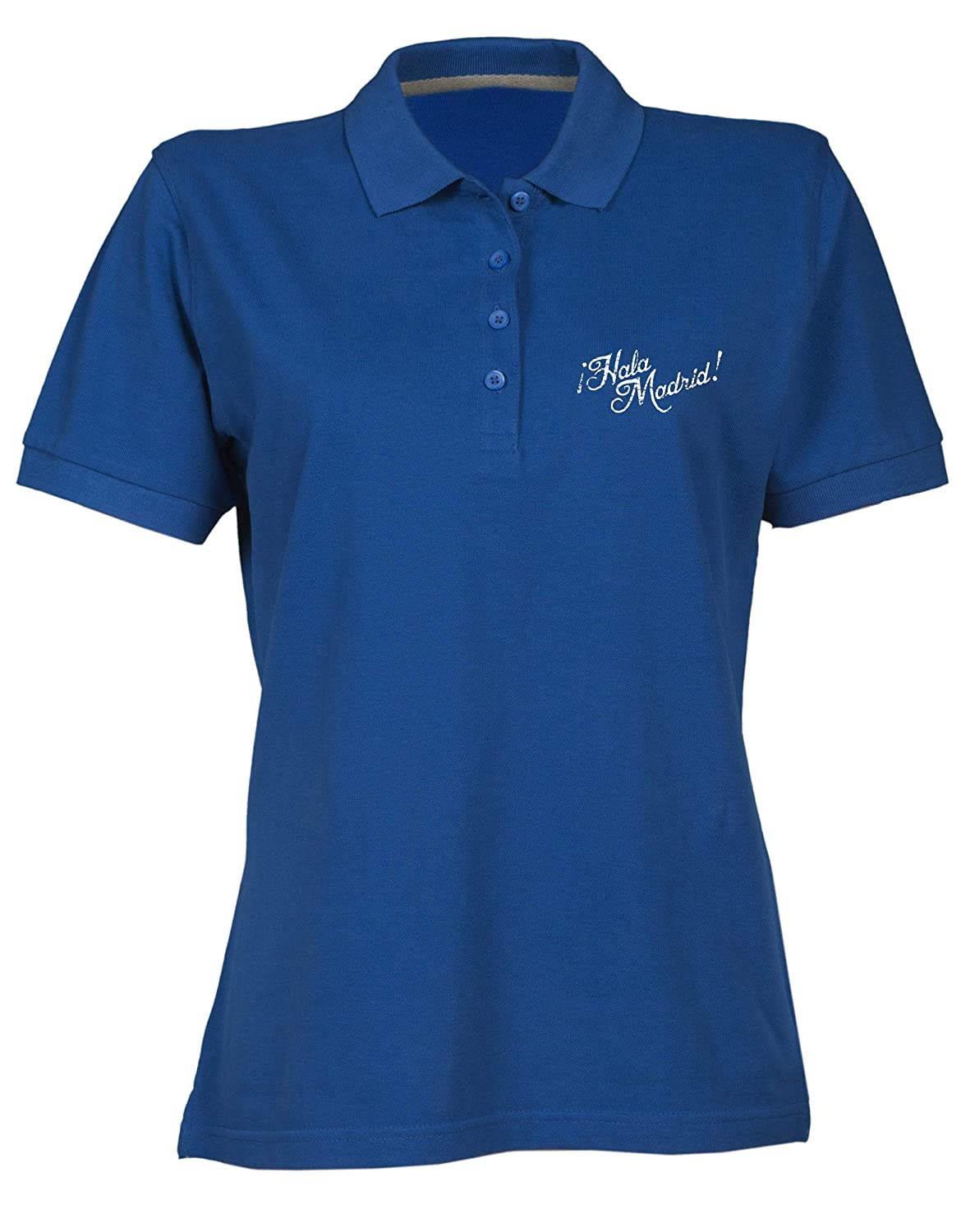 Polo para Mujer Azul Royal WC0537 Real Madrid HALA Madrid: Amazon ...