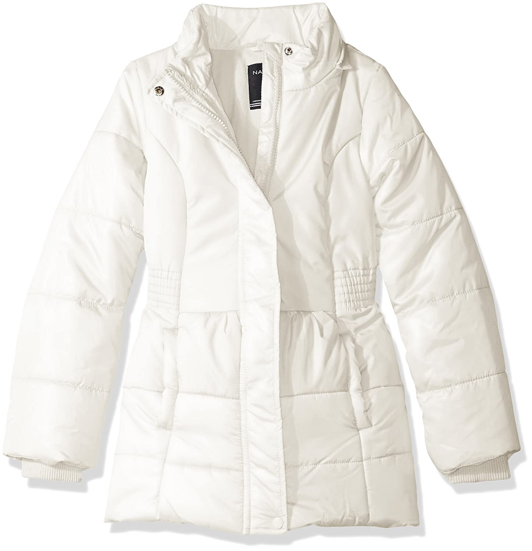 Nautica Girls Heavy Weight Shine Jacket with Faux Fur Trim