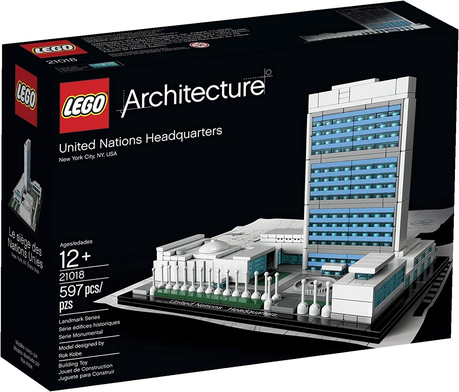 LEGO Architecture United Nations Headquarters 21018 (Discontinued by manufacturer)