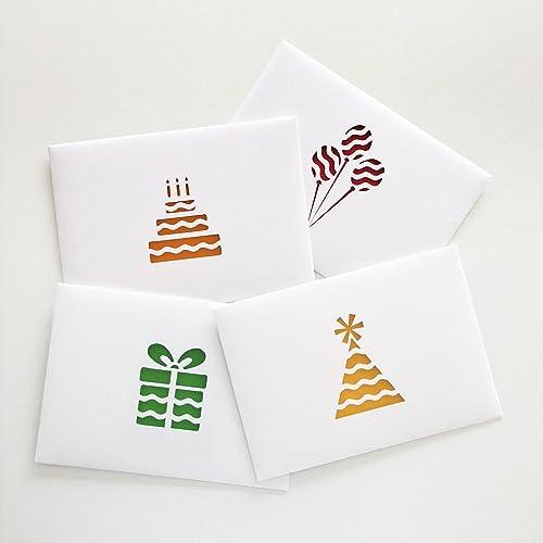 Amazon happy birthday cards handmade set of 4 for mumdad happy birthday cards handmade set of 4 for mumdadfamilyfriend m4hsunfo