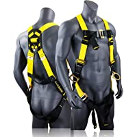 KwikSafety (Charlotte, NC) THUNDER 3D Ring Safety Harness (Pass Through Connectors) OSHA ANSI Industrial Full Body Fall…