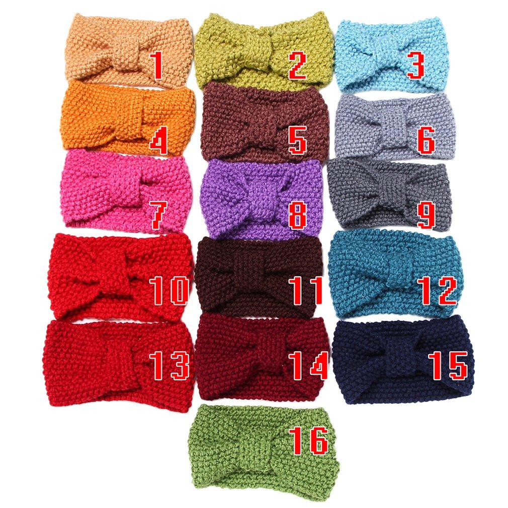 Toyobuy Women Knit Bowknot Headband Hairband 3pcs Color Random by Toyobuy