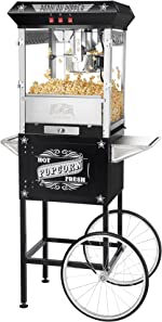 Great Northern Popcorn Black Paducah 8 Ounce Antique Popcorn Machine and
